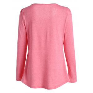 Casual Long Sleeve Pleated Top -