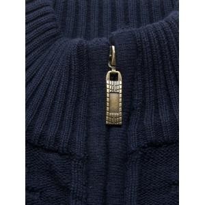 Zip Up Cable Knit Cardigan - CADETBLUE XL