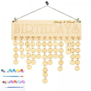 DIY Colorful Wooden Family And Friends Birthdays Calendar Board -