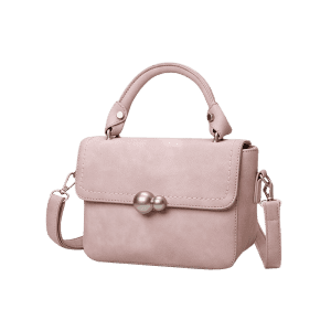 Faux Leather Stitching Tote Bag - PINK