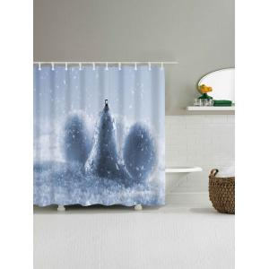Waterproof Christmas Snow Ball Shower Curtain - CLOUDY W59 INCH * L71 INCH