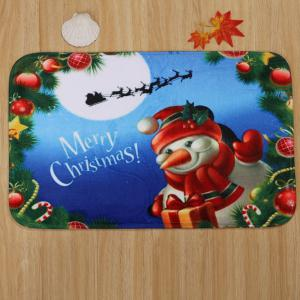 Christmas Snowman 3Pcs Bath Toilet Rugs Set -