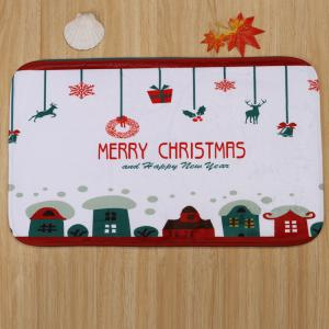 Christmas Printed 3Pcs Bath Toilet Rugs Set -
