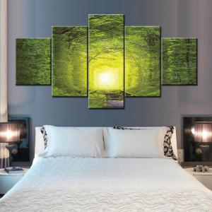 Wall Art Forest Tree Rail Print Split Canvas Paintings -