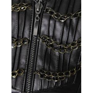 Top Corset Faux en cuir Steampunk -