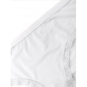 Seamless Lace Panel Panties -