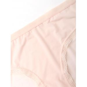 Seamless Lace Panel Panties - COMPLEXION M