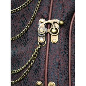 Chains Panel Steampunk Corset - DEEP BROWN M