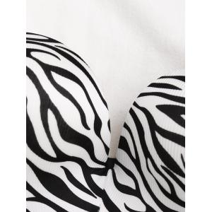 Bandeau Zebra Print Push Up Bra - BLACK 75B