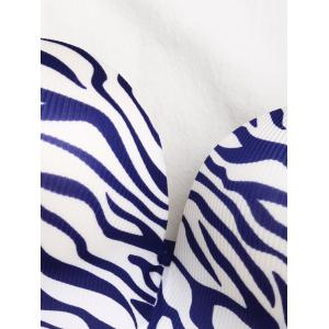 Bandeau Zebra Print Push Up Bra - BLUE 70B