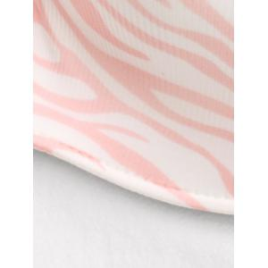 Bandeau Zebra Print Push Up Bra - LIGHT PINK 75B