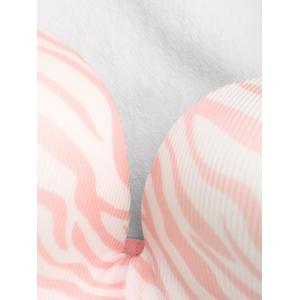 Bandeau Zebra Print Push Up Bra -