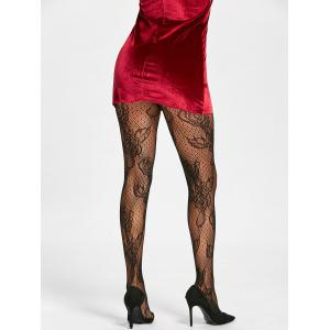 Flower Fishnet See Through Tights -