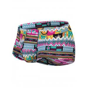 3D Ethnic Geometric Print Pouch Trunk -