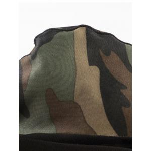 Voile Camouflage Panel Convex Pouch Underpants - CAMOUFLAGE 2XL
