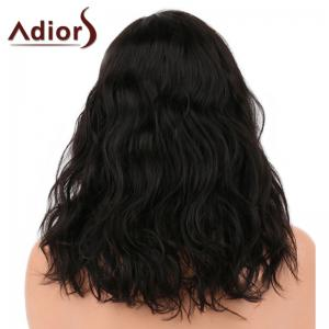 Adidas Medium Side Parting Shaggy Natural Wavy Synthetic Wig - Naturel Noir