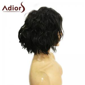 Adidas Short Center Parting Fluffy Wavy Bob Perruque synthétique - Naturel Noir