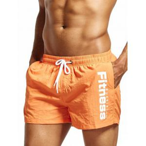 Maillot doublure Shorts en forme de cordon - Orange L