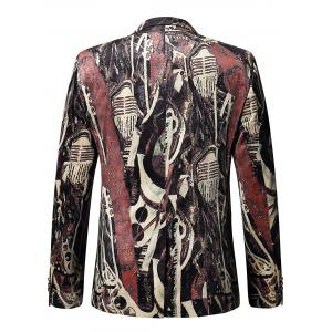Single-breasted Oil Painting Velvet Blazer - COLORMIX 54