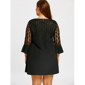Beaded Lace Panel Plus Size Shift Dress -