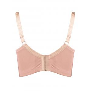 Plus Size Underwire Unlined Full Cup Bra - PINK 3XL