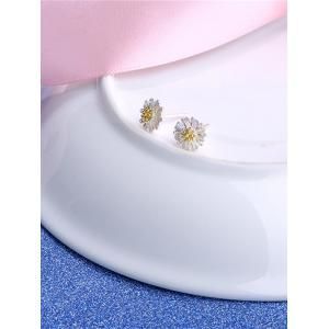 Tiny Flower Sterling Silver Stud Earrings -
