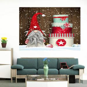 Christmas Cake Santa Claus Patterned Wall Art Painting - COLORFUL 1PC:24*47 INCH( NO FRAME )