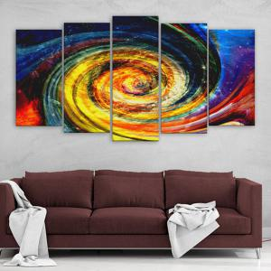 Vortex Print Wall Art Split Canvas Paintings - COLORFUL 1PC:16*39,2PCS:16*24,2PCS:16*31 INCH( NO FRAME )