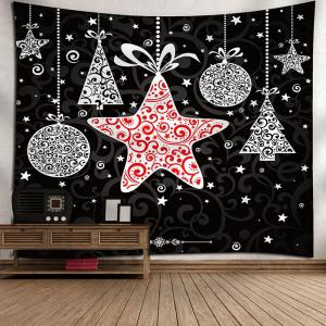 Christmas Stars Gift Pattern Waterproof Wall Hanging Tapestry - COLORMIX W59 INCH * L51 INCH