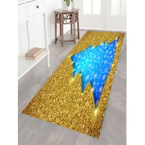Multifunction Glitter Christmas Tree Shaped Wall Art Painting - GOLDEN 1PC:24*35 INCH( NO FRAME )