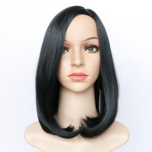 Side Parting Medium Tail Adduction Straight Bob Synthetic Wig -