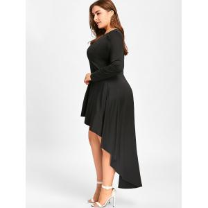 Plus Size Long Sleeve Cocktail Dress -