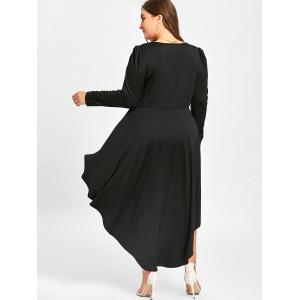 Robe Cocktail Grande Taille à Manches Longues -
