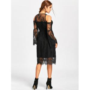 Halloween Cold Shoulder Lace Up Dress -