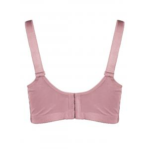 Plus Size Wirefree Padded Floral Lace Panel Bra -