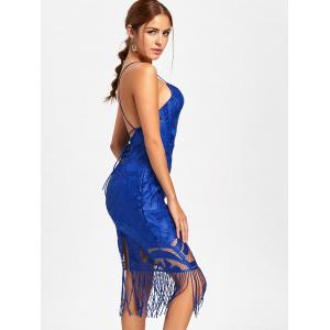 Backless Fringe Lace Cami Bridal Shower Dress -