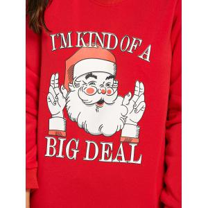Cute Santa Claus Print Christmas Sweatshirt -