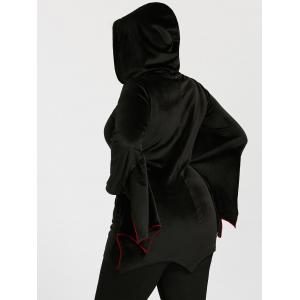 Bat Wings Plus Size Zip Up Hoodie -