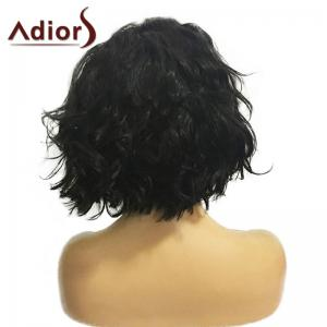 Adiors Short Center Parting Fluffy Wavy Bob Synthetic Wig -