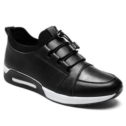 Discount Low Top Faux Leather Casual Shoes - 40 BLACK Mobile