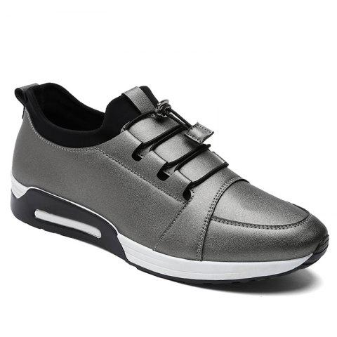Latest Low Top Faux Leather Casual Shoes - 42 FROST Mobile