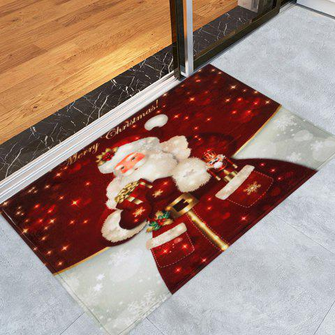 Latest Christmas Santa Claus Antislip Bath Mat - W16 INCH * L24 INCH DARK RED Mobile