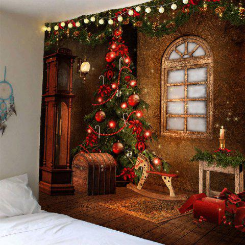 Fashion Christmas Tree Decorations Pattern Tapestry Wall Art - W79 INCH * L71 INCH COLORFUL Mobile