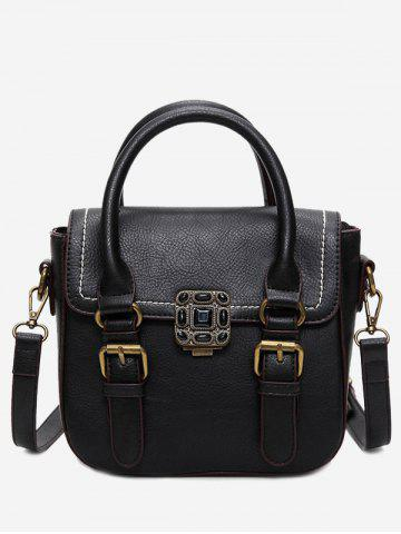 New Metal Stitching Buckle Straps Tote Bag