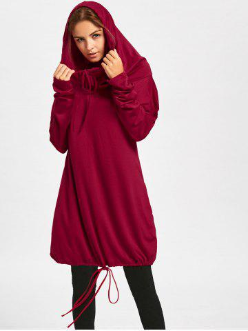Sweat à manches longues Dolman Sleeve Loose Fit Rouge XL