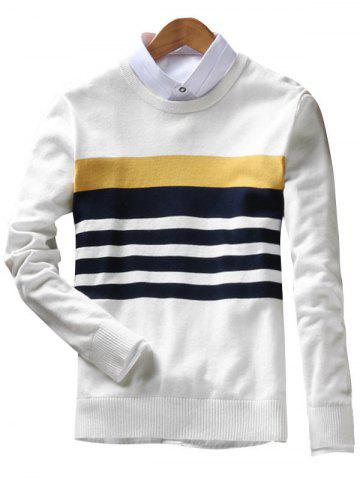 Buy Stripes Crew Neck Sweater