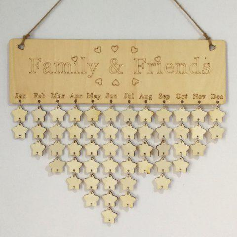 Cheap DIY Wooden Family And Friends Birthday Calendar Board STAR