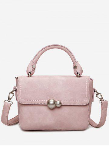 Online Faux Leather Stitching Tote Bag PINK