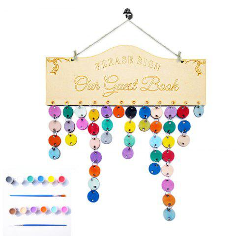 Fancy DIY Colorful Wooden Guest Birthday Calendar Board - ROUND  Mobile