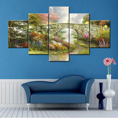 Outfit Bridge Stream Print Split Canvas Wall Art Paintings